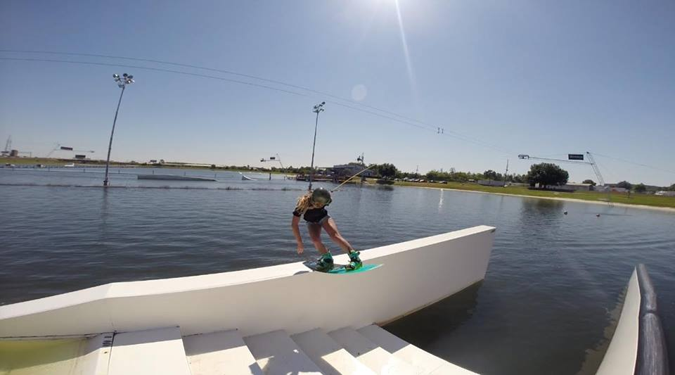 Anna Nikstad at Wake Nation cable park