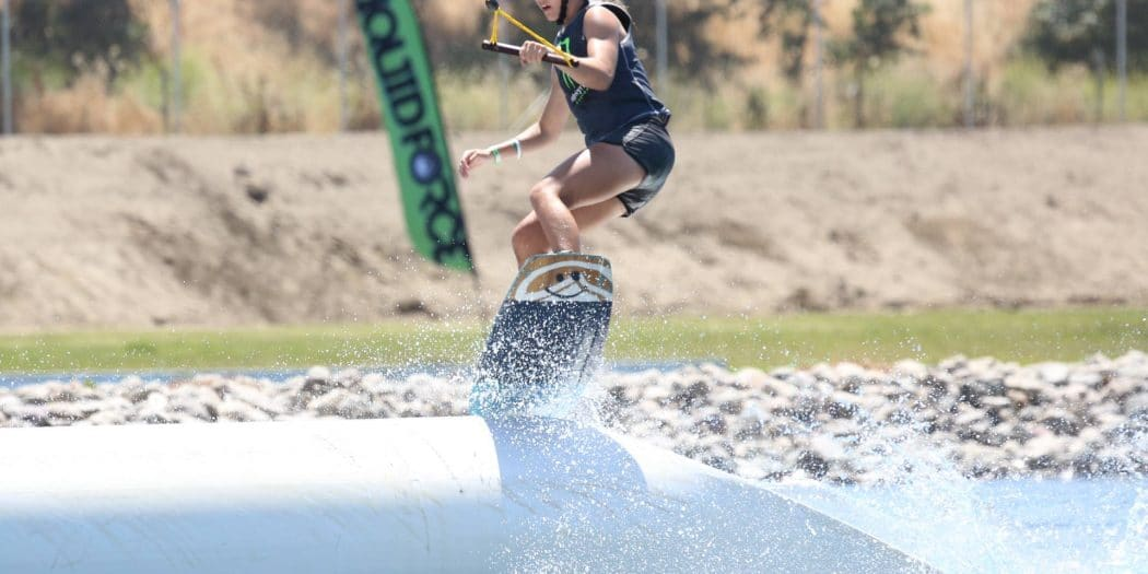 Marilyn Pruitt Shredding at Terminus Wake Park